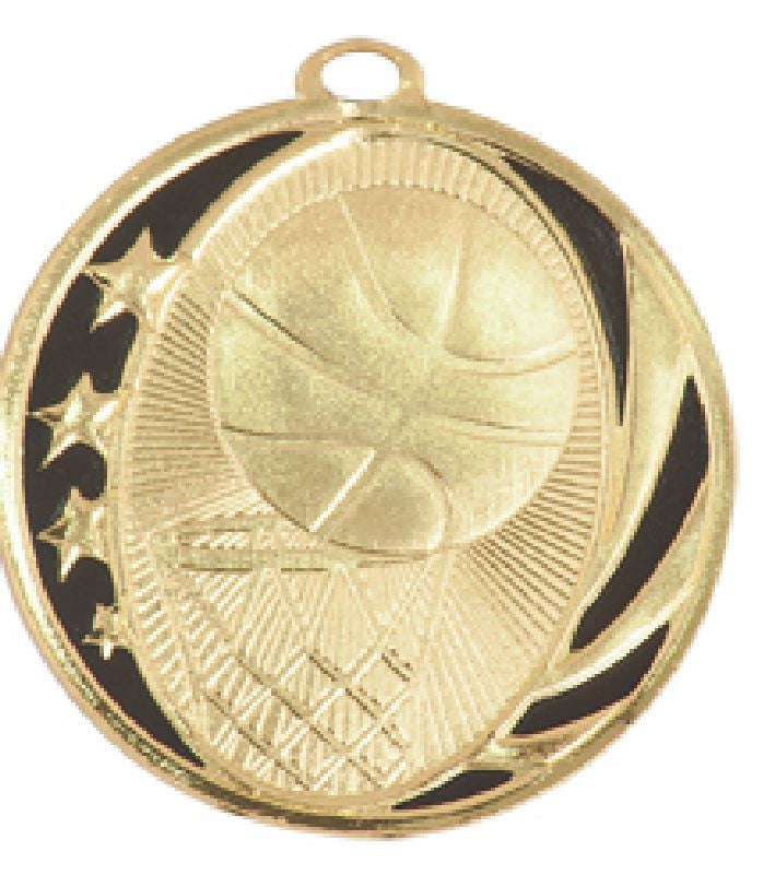 Basketball Medal Award Trophy With Free Lanyard MS702 - Winter Park Products