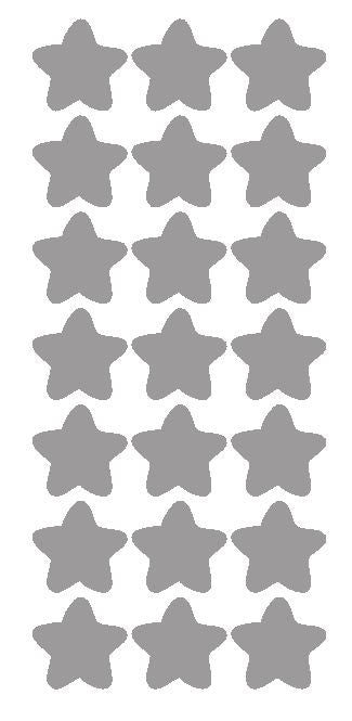 "1-1/4"" Silver Star Stickers Wedding Envelope Seals School Arts & Crafts - Winter Park Products"