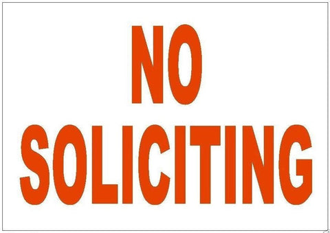 "No Soliciting Sticker 1.75"" x 2.5"" D236 - Winter Park Products"