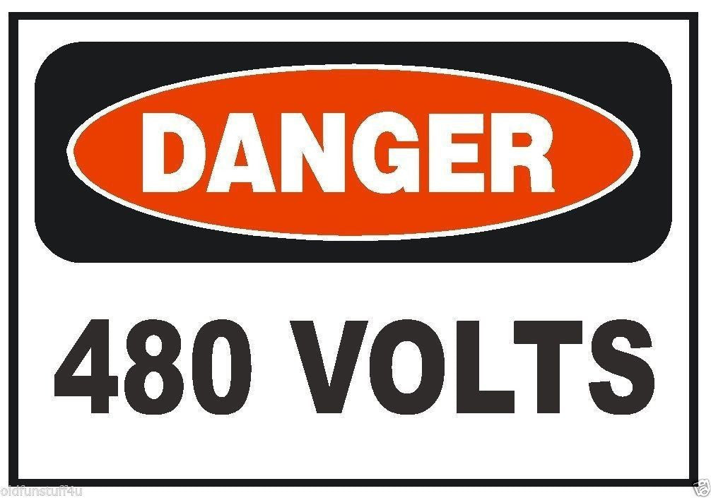 Danger 480 Volt Electrical Electrician Sticker OSHA Safety Sign Decal Label D223 - Winter Park Products