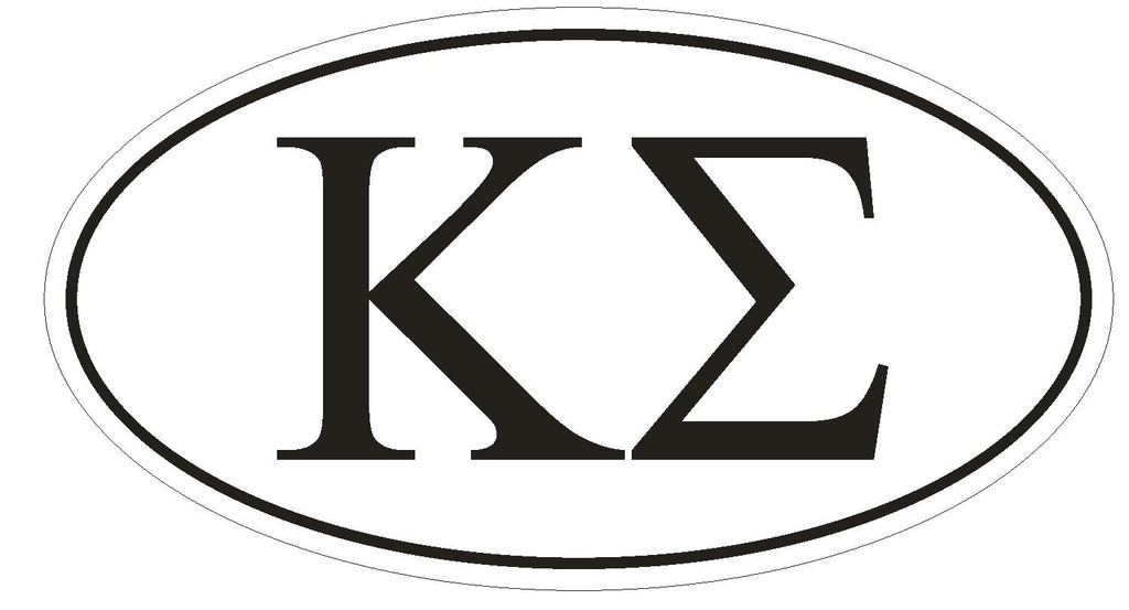 Kappa Sigma Fraternity EURO OVAL Bumper Sticker or Helmet Sticker D571 - Winter Park Products