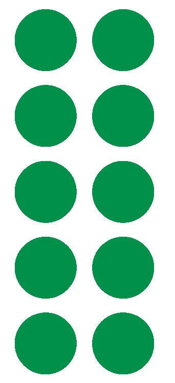 "2"" Green Round Color Coded Inventory Label Dots Stickers - Winter Park Products"