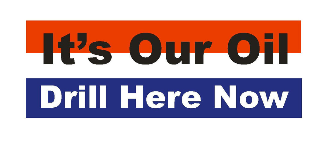 Drill Here Now Bumper Sticker or Helmet Sticker D101 - Winter Park Products
