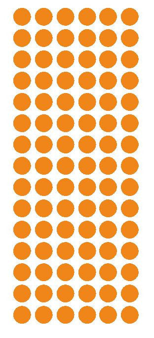 "1/2"" Light ORANGE Round Vinyl Color Coded Inventory Label Dots Stickers - Winter Park Products"