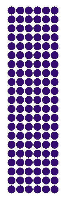 "3/8"" Purple Round Vinyl Color Code Inventory Label Dot Stickers - Winter Park Products"