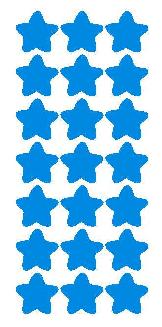 "1-1/4"" Med Blue Star Stickers Wedding Envelope Seals School Arts & Crafts - Winter Park Products"