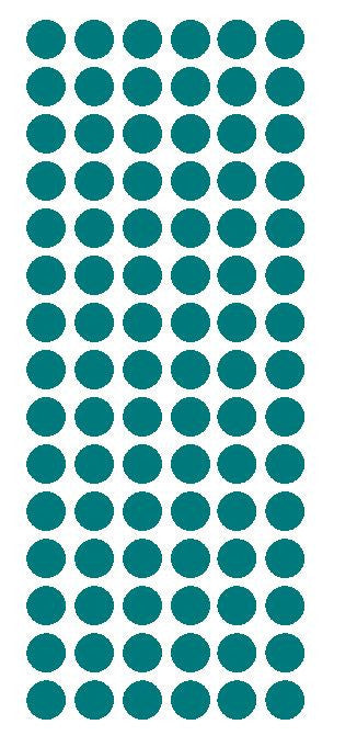"1/2"" TURQUOISE Round Vinyl Color Coded Inventory Label Dots Stickers - Winter Park Products"