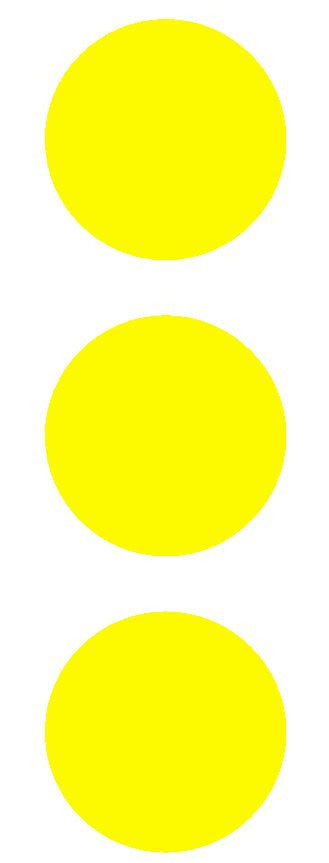 "2-1/2"" Lt Yellow Round Color Code Inventory Label Dots Stickers - Winter Park Products"