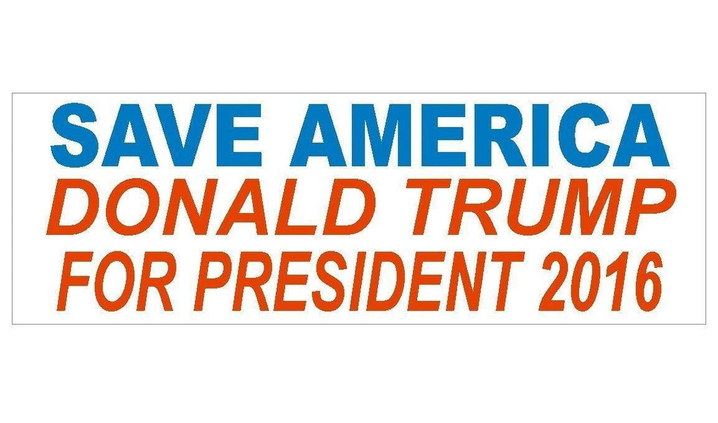 Anti Obama Donald Trump For President Bumper Sticker or Helmet Sticker D347 - Winter Park Products