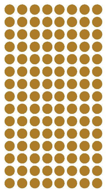 "1/4"" GOLD Round Color Coding Inventory Label Dots Stickers - Winter Park Products"
