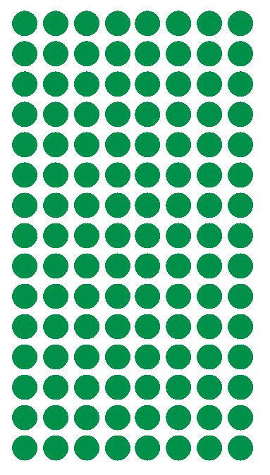"1/4"" GREEN Round Color Coding Inventory Label Dots Stickers - Winter Park Products"