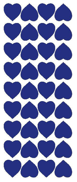 "Dark Blue 1"" Heart Stickers BRIDAL SHOWER Wedding Envelope Seals School arts & Crafts - Winter Park Products"