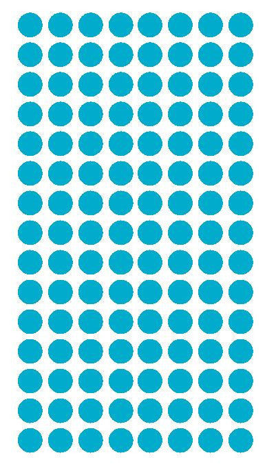 "1/4"" LIGHT BLUE Round Color Coding Inventory Label Dots Stickers - Winter Park Products"