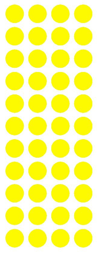 "3/4"" Light Yellow Round Color Code Inventory Label Dot Stickers - Winter Park Products"