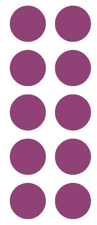 "2"" Plum Round Color Coded Inventory Label Dots Stickers - Winter Park Products"