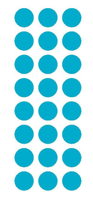 "1"" Light Blue Round Vinyl Color Code Inventory Label Dot Stickers - Winter Park Products"