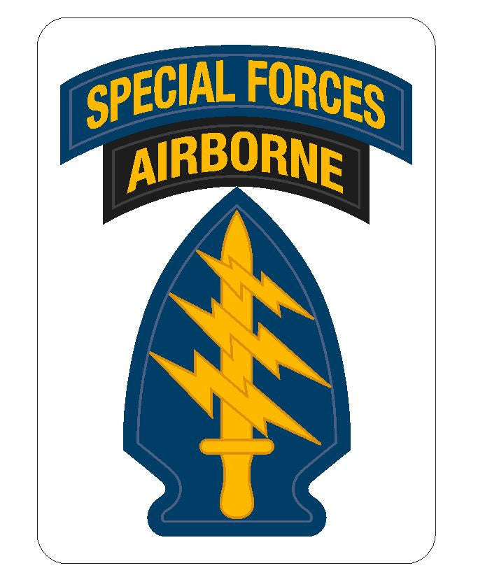 Special Forces Airborne Sticker R416 - Winter Park Products
