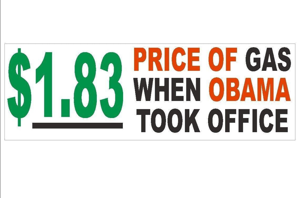 Anti Obama Price of Obama Political Bumper Sticker or Helmet Sticker D184 - Winter Park Products