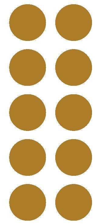 "2"" Gold Round Color Coded Inventory Label Dots Stickers - Winter Park Products"