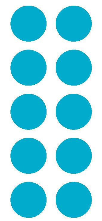 "2"" Lt Blue Round Color Coded Inventory Label Dots Stickers - Winter Park Products"