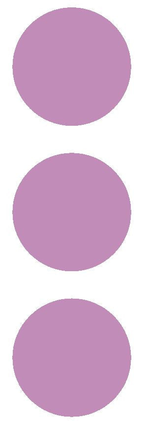 "2-1/2"" Lilac Round Color Code Inventory Label Dots Stickers - Winter Park Products"