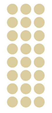 "1"" Beige Tan Round Vinyl Color Code Inventory Label Dot Stickers - Winter Park Products"