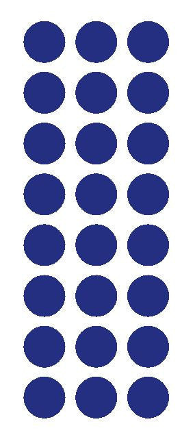 "1"" Dark Blue Round Vinyl Color Code Inventory Label Dot Stickers - Winter Park Products"
