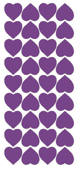 "Lavender 1"" Heart Stickers BRIDAL SHOWER Wedding Envelope Seals School arts & Crafts - Winter Park Products"