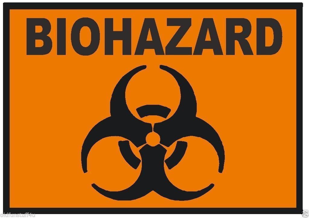 Biohazard Sticker Toxic Chemical OSHA Safety Business Sign Decal Label D238 - Winter Park Products