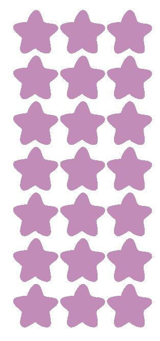 "1-1/4"" Lilac Star Stickers Wedding Envelope Seals School Arts & Crafts - Winter Park Products"