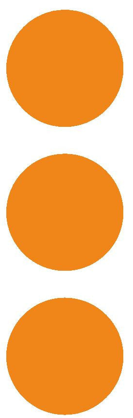 "3"" Lt Orange Round Color Code Inventory Label Dots Stickers - Winter Park Products"