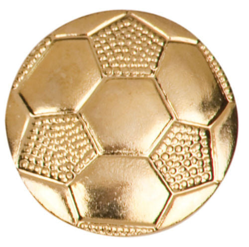 Gold Finish Metal Soccer Ball Pin TIE TACK School Varsity Chenille Insignia - Winter Park Products