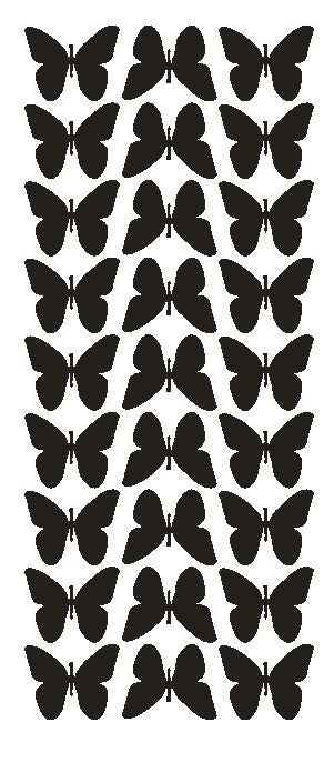 "Black 1"" Butterfly Stickers BRIDAL SHOWER Wedding Envelope Seals School arts & Crafts - Winter Park Products"