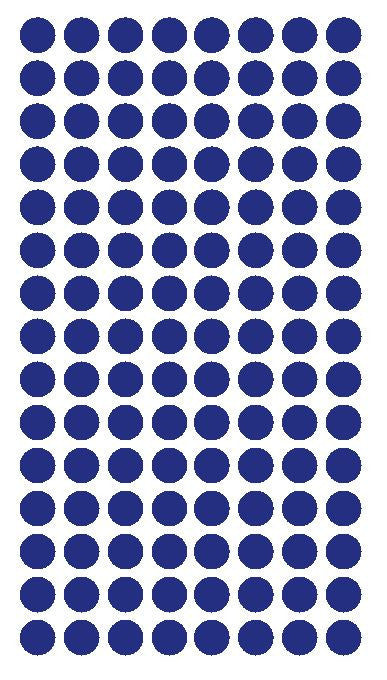 "1/4"" DARK BLUE Round Color Coding Inventory Label Dots Stickers - Winter Park Products"