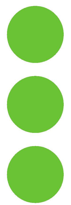 "3"" Lime Green Round Color Code Inventory Label Dots Stickers - Winter Park Products"