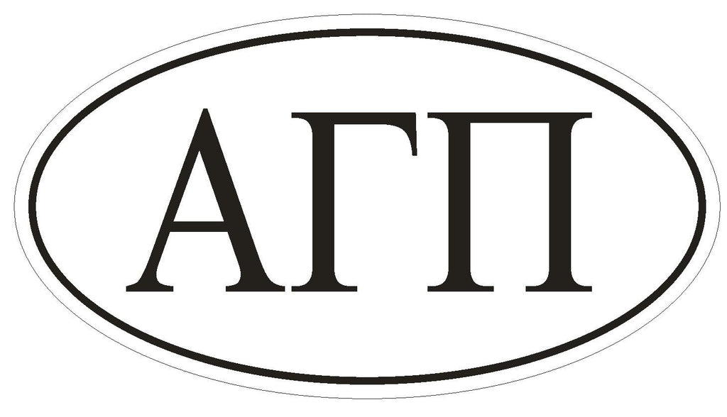 Alpha Gamma Pi Sororities EURO OVAL Bumper Sticker or Helmet Sticker D599 - Winter Park Products