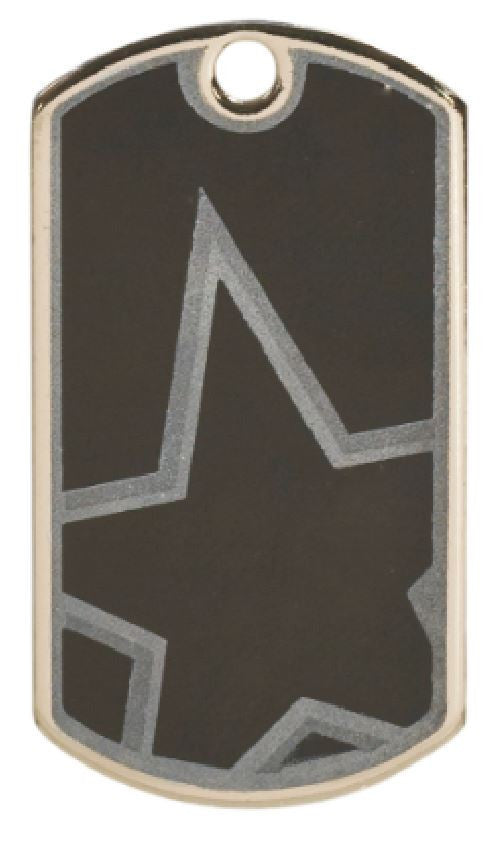 Blank Star Dog Tag Award Trophy Sports W/Free Bead Chain FREE SHIPPING DT112 - Winter Park Products