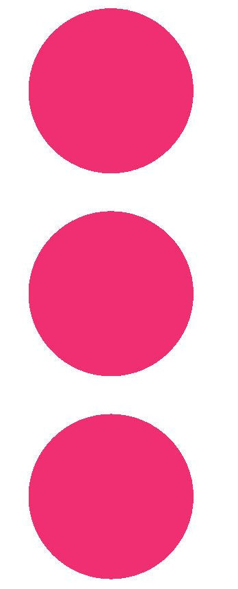 "2-1/2"" Hot Pink Round Color Code Inventory Label Dots Stickers - Winter Park Products"
