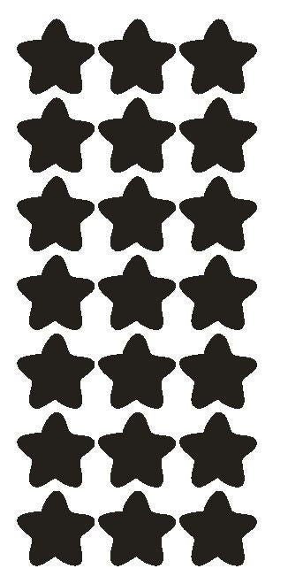 "1-1/4"" Black Star Stickers Wedding Envelope Seals School Arts & Crafts - Winter Park Products"
