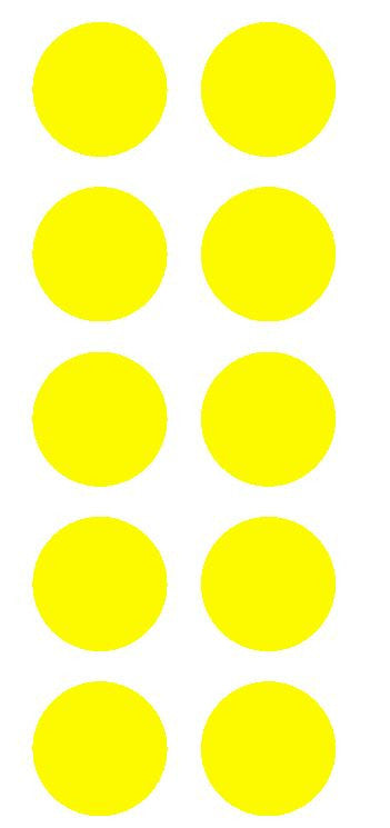"2"" Lt Yellow Round Color Coded Inventory Label Dots Stickers - Winter Park Products"