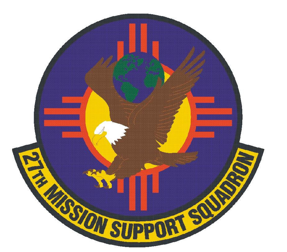 27th Mission Support Squadron Sticker R456 - Winter Park Products