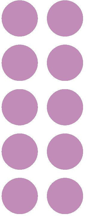 "1-1/2"" Lilac Round Color Coded Inventory Label Dots Stickers - Winter Park Products"