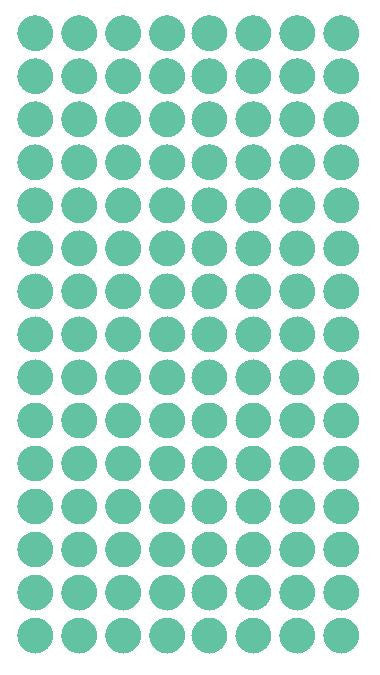 "1/4"" MINT GREEN Round Color Coding Inventory Label Dots Stickers - Winter Park Products"