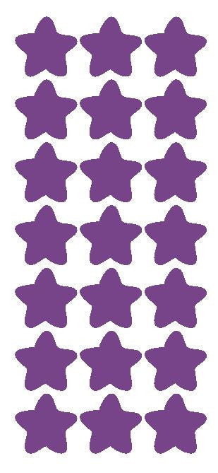 "1-1/4"" Lavender Star Stickers Wedding Envelope Seals School Arts & Crafts - Winter Park Products"