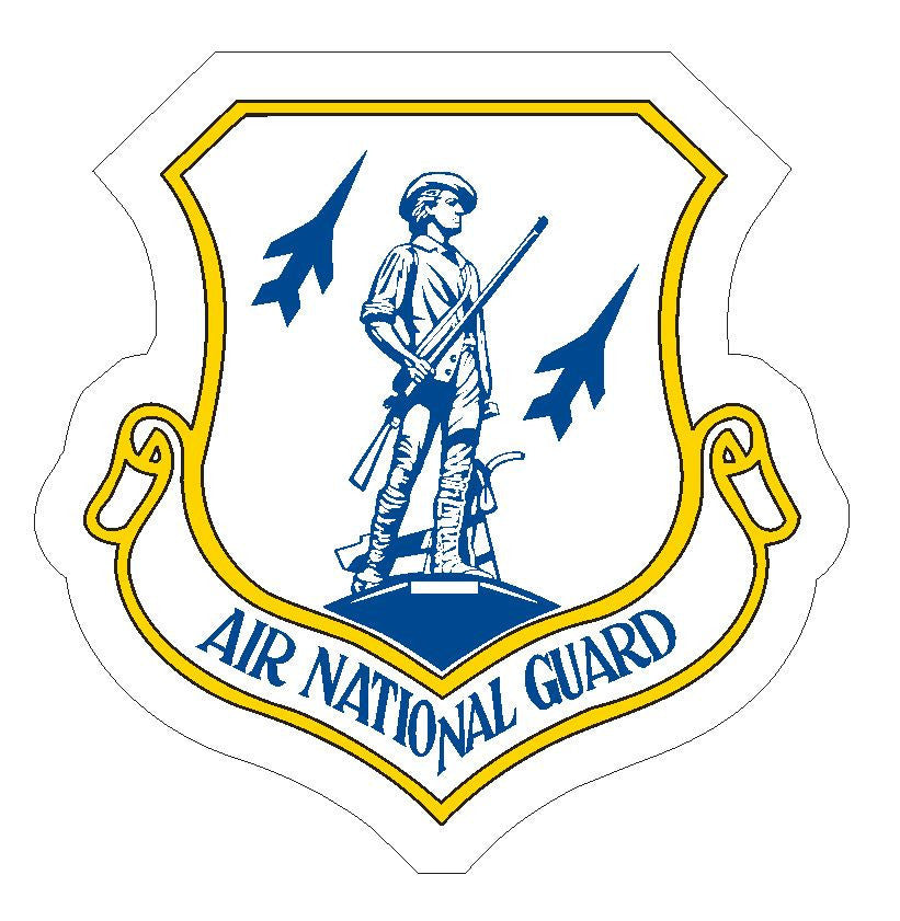 Air National Guard Sticker R385 - Winter Park Products