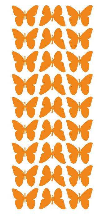"Light Orange 1"" Butterfly Stickers BRIDAL SHOWER Wedding Envelope Seals School arts & Crafts - Winter Park Products"