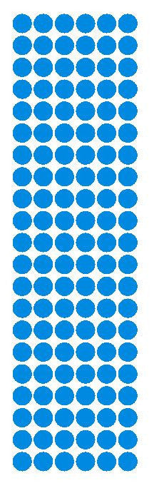 "3/8"" Medium Blue Round Vinyl Color Code Inventory Label Dot Stickers - Winter Park Products"