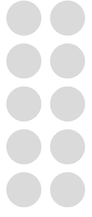 "1-1/2"" Lt Gray Grey Round Color Coded Inventory Label Dots Stickers - Winter Park Products"