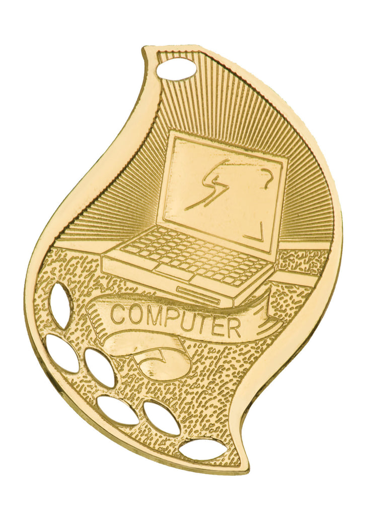 Computer Medal Award Trophy With Free Lanyard FM204 - Winter Park Products