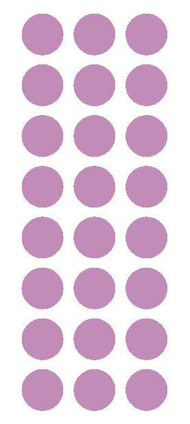 "1"" Lilac Round Vinyl Color Code Inventory Label Dot Stickers - Winter Park Products"